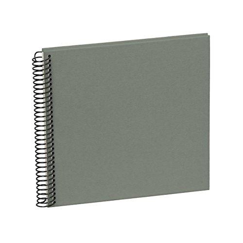 Semikolon (353039) Spiral Album Piccolino grey (grau) - Spiral-Fotoalbum mit 20 Seiten u. Efalin-Einband -Fotobuch mit cremeweißem Fotokarton