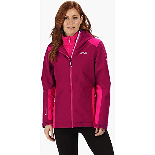 Regatta Damen Womens Wentwood Iv Waterproof & Breathable Hooded Hiking 3-in-1 Outdoor Jacket, Rot - Beetroot, 40
