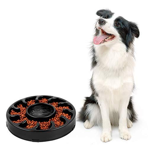 SUOSDEY Langsam Fütterung Fressen Hundenapf, Anti Schling Napf Hund Groß, Interessanter Interaktiver Slow Feeder Bowl für Hunde, Schwarz