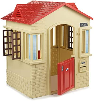 Little Tikes Cape Cottage Playhouse with Working Doors Windows and Shutters Tan product image