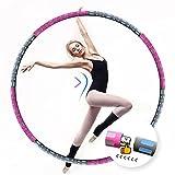 Aikove Fitness Hoop para Adultos 8 Nudos 90cm Hoola Hoop Ejercicio para Adelgazar, Peso Ajustable Aro de Fitness Desmontable Hecho de Acero Inoxidable, Espuma de Primera Calidad, Forma Abdominal