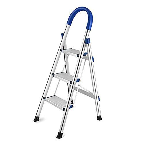 ZXMDP RVS Stap Ladder 3/4/5/6-Step Kruk Ladder Draagbare Vouwen Anti-Slip met Rubber Handgreep 330Lbs Capaciteit Huishoudelijke Trappen
