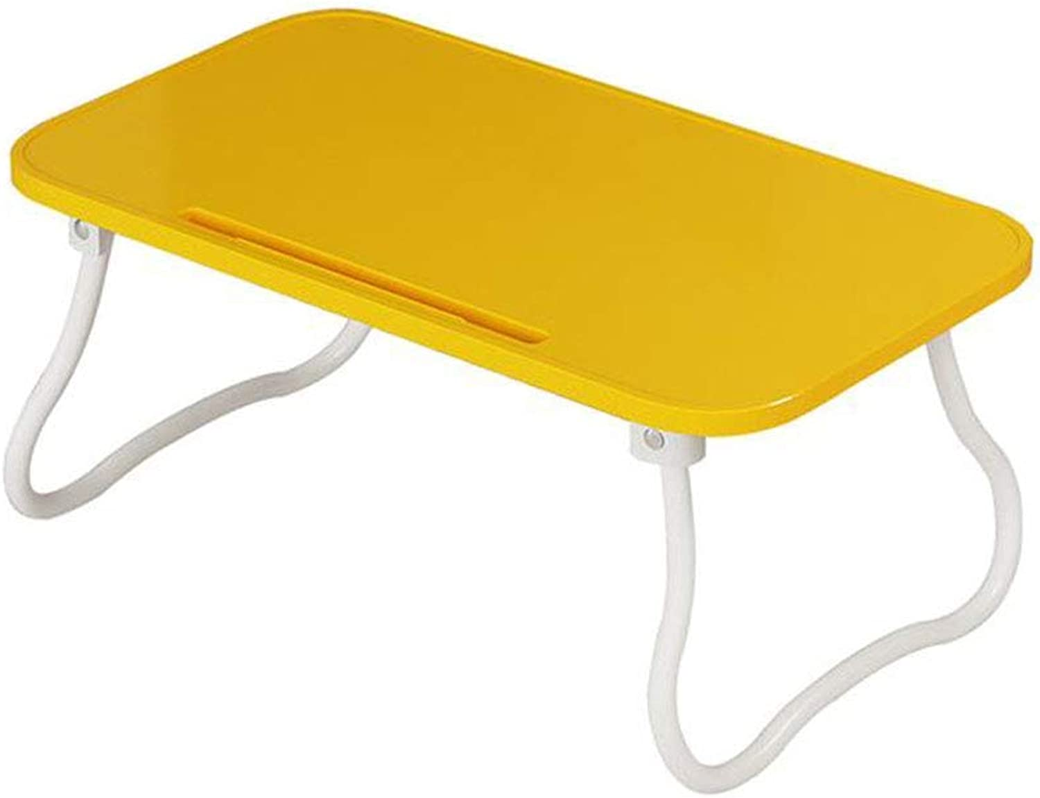 LiTing-Folding Table Plastic Bed Folding Computer Table Simple Modern Dormitory Lazy Table Multi-Functional Learning Small Desk (Size  54x31x23cm)