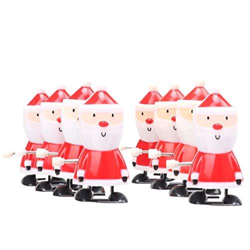 NUOBESTY 8 Stücke Weihnachtsmann Figur Aufziehspielzeug Aufziehfigur Weihnachten Deko Figuren Uhrwerk Spielzeug Geschenk für Baby Kinder Lustiges Spielzeug