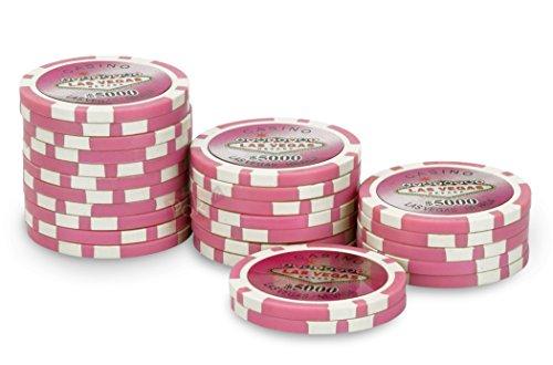 Rotolo da 25 fiches Laser 5000 $Las Vegas, colore: rosa