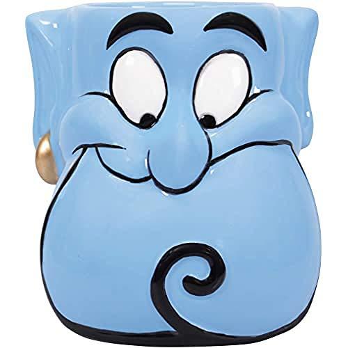 Disney Aladdin 3-D Tasse Dschinn Flaschengeist blau, 100 % Keramik, Fassungsvermögen ca. 500 ml., in Geschenkbox., mehrfarbig, Standard, MUGDDC03