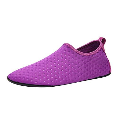 Bluestercool Chaussures Chaussettes Antidérapantes de Yoga Pilates, de Plage Confortables et résistantes pour Une Meilleure Pratique du Yoga Voyage, Usage Domestique