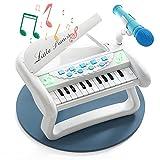 Piano de juguete para bebés, regalos de primer cumpleaños para niños pequeños, niñas, niños de un año de edad, 1 2 3, instrumentos de teclado de música para bebés con micrófono, regalos educativos para 12 a 18 meses
