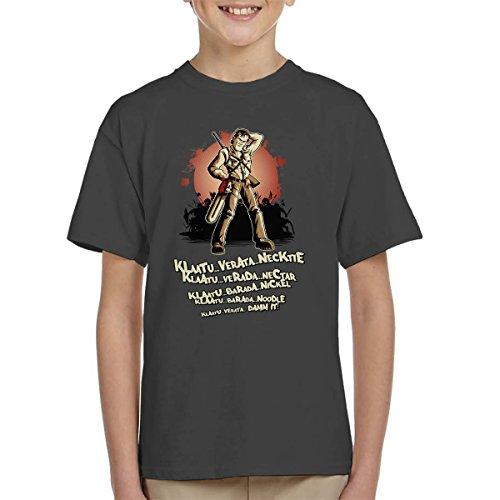 Evil Dead Klaatu Barada Nikto Kid's T-Shirt