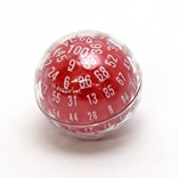 GAMESCIENCE 100面ダイス D100 ZOCCHIHEDRON サイコロ (赤 (RED))