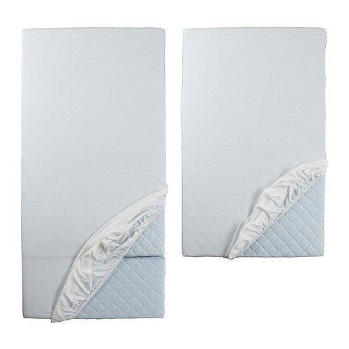 IKEA LEN Spannlaken für ausziehbares Bett in weiß; 2tlg.