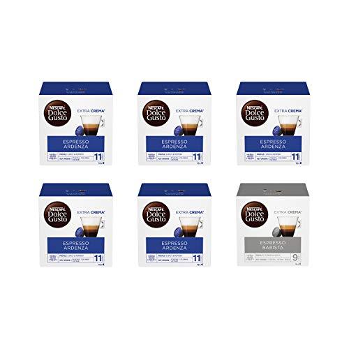 Nescafé Dolce Gusto Espresso Ardenza 5 Confezioni, Espresso Barista 1 Confezione (96 capsule)