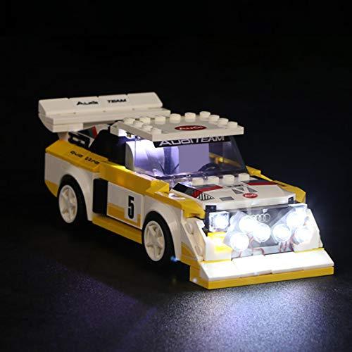 HYZM LED Beleuchtungsset Licht Set für LEGO Speed Champions 1985 Audi Sport Quattro S1, Beleuchtung Licht Set für Lego Technic 76897 (Nur LED Licht, Ohne LEGO Kit)