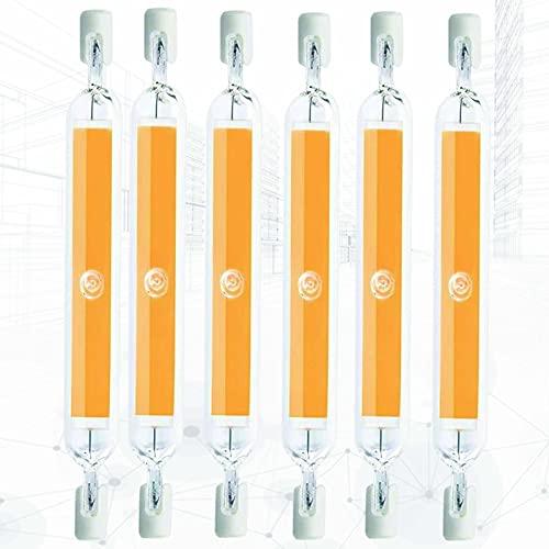 6 PC R7S COB LED Bombilla Regulable 118 mm 360 ° ángulo de Haz 20W 3000K-6000K 110-120V J Tipo J118 Bombilla de iluminación de Doble Extremo (200W Reemplazo de halógeno)