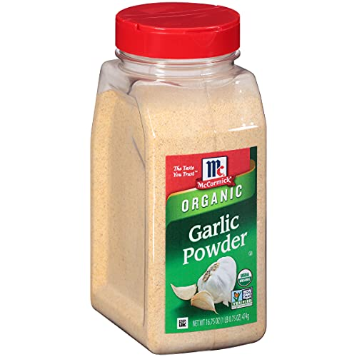 McCormick Garlic Powder (Organic, Non-GMO, Kosher), 16.75 oz