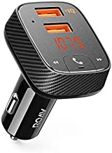 Roav SmartCharge F2, by Anker, FM Transmitter, Bluetooth Receiver, Car Charger with Bluetooth 4.2, Car Locator, App Support, 2 USB ports, PowerIQ, AUX Output, and USB Drive to Play MP3 Files