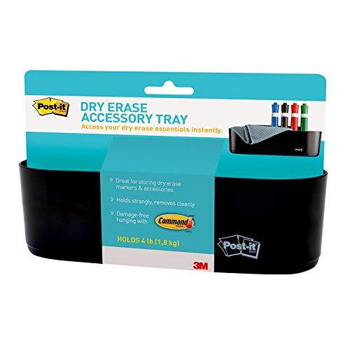Post-it Dry Erase Accessory Tray (DEFTRAY),Black