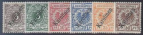 Goldhahn Karolinen Nr. 1II-6II - Briefmarken für Sammler [Spielzeug]