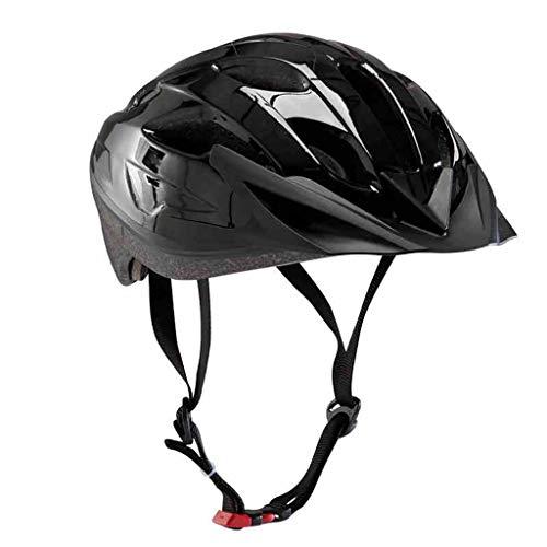 FLY® Casque, Casque De Vélo De Montagne, Casque De Vélo De Route, Noir, Tour De Tête Réglable (57-62cm)
