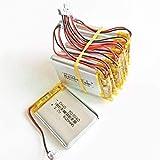 3.7V 600mAh Batería 503040 Polímero de batería de Litio Recargable JST 1.25mm 2Pin para cámara DVD MP3 GPS PSP Bluetooth Electronics-10pcs-10 habitaciones-10 Piezas
