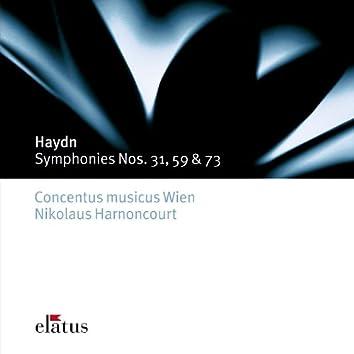 Haydn : Symphonies Nos 31, 59 & 73