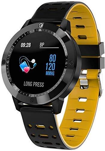 JIAJBG Rastreador de fitness inteligente rastreador de fitness reloj pulsera inteligente, Cf58 Fitness Tracker Bluetooth pulsera inteligente deporte fitness Tracker exquisito/amarillo