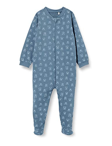 Fixoni Unisex Baby Nightsuit with Zipper and Foot Kleinkind-Schlafanzüge, China Blue, 92