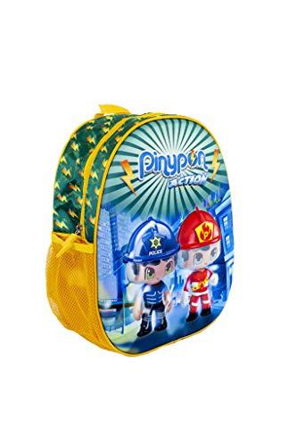 Pinypon Action - Mochila Escolar con diseño 3 D para niños y niñas a Partir de 3 años (Famosa 700015965)