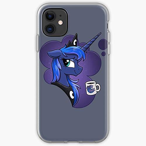 Night Stars Coffee Luna Moon MLP Little My Pony I Stars-   Phone Case for iPhone 11, iPhone 11 Pro, iPhone XR, iPhone 7/8 / SE 2020  Phone Case for All iPhone 12, iPhone 11, iPhone 11 Pro, iPhone
