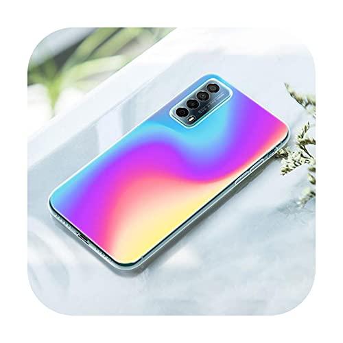 Gradient Rainbow picture - Funda para Huawei P50 Pro P40 Lite E P30 Pro P10 Plus P20 Lite P Smart Z 2021 Pro 2019 Soft Cover-007-P40 Pro