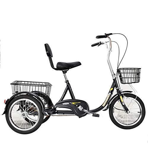 Household items Einrad-Single-Speed-Outdoor-Fahrrad für Erwachsene, EIN Dreirad mit Einstellbarer Sitzhöhe für ältere Menschen, EIN Moped mit Einkaufskorb, Rikscha-Roller für Männer und Frauen