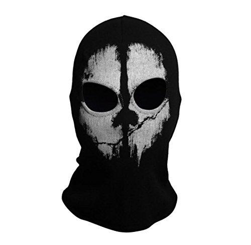 SzBlaZe Unisex Cotton Ghost Print Stocking Balaclava Mask Good for War Game Halloween Cosplay (Print 2)