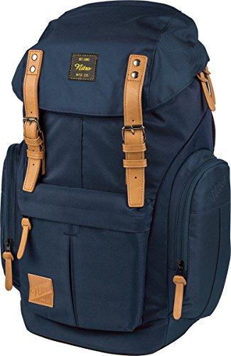 Nitro Schulrucksack Daypacker Alltagsrucksack im Retro Look mit Gepolstertem Laptopfach, Schulrucksack, Wanderrucksack oder Streetpack, Größe und Schnitt ideal für Frauen, 32 L, Indigo