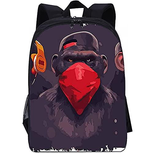 ZFWEI Mochila para portátil Orangután de hip hop Mochila para equipaje de mano con compartimento para portátil de 16 pulgadas, mochila de moda en look melange
