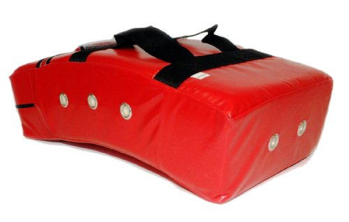 Star Sports Karate Taekwondo Martial Arts Thai MMA M Size Curved Kicking Shield Pad Target (Red)