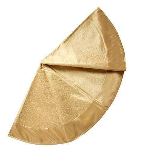 SORRENTO 36' Glory Gold Christmas Tree Skirt Sparkle Stitch Cover(7-10 DAYS DELIVERY)