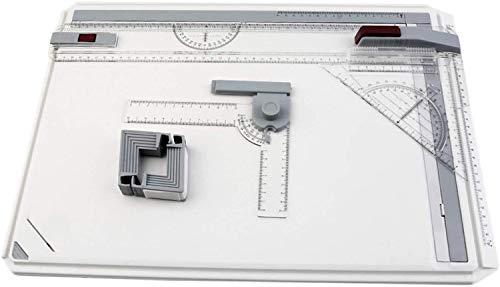 RTUTUR Tragbare A3 Zeichenbrett Tisch mit Parallelbewegung einstellbare Winkel Draughtsman Art Malerei Zeichnung Werkzeugpalette