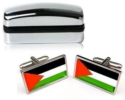 Palestine Hommes Boutons de manchettes avec CHROME emballage cadeau