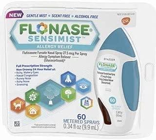 Flonase Sensimist Nasal Spray for Allergy Relief, 24-Hour Non-Drowsy Allergy Medicine, 120 Sprays 2-Pack
