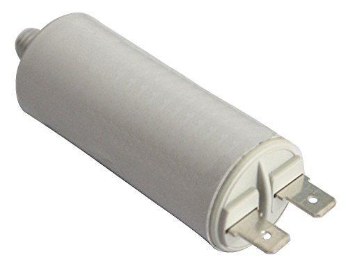 Aerzetix: Condensatore di marcia e avviamento motori elettrici monofase 450V con terminali 6,3mm a 4µF capacita C10207