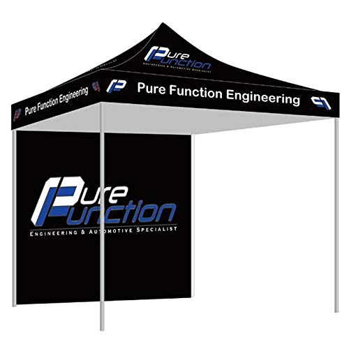 NaBai Canopy Pop Up Tent for Tradeshow 10 x 10 feet, Advertising Gazebos with Your Logo (10x10 top Canopy+one Full Wall+13kgs Aluminum Alloy Frame)