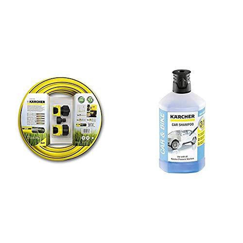 Kärcher Set de manguera para limpiadora de alta presión (2.645-156.0) + Champú para automóviles 3 en 1 RM 610 (6.295-750.0)