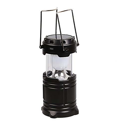 Ultra Bright Protable Solar USB Rechargable Led Outdoor Camping Lantern Light Lamp by TOPTC