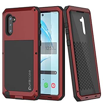 Galaxy Note 10 Metal Case Heavy Duty Military Grade Armor Cover [Shockproof] Hybrid Full Body Hard Aluminum & TPU Design [Non Slip] Compatible with Samsung Galaxy Note 10 [Red]