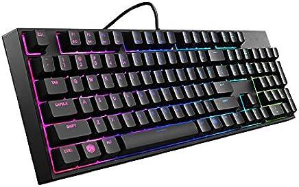 Cooler Master MasterKeys Lite L Gaming Combo Teclado Layout Español y Ratón Gaming, Switches Mem-cánico y Zone de Iluminación LED RGB Brillante