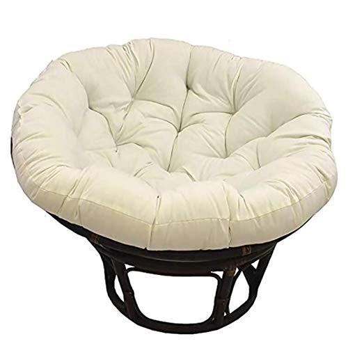 WPW Papasan Rundes Stuhlkissen mit Outdoor-Stoff Dickes Nest Sitzkissen mit Reißverschluss Swing Egg Hammock Chair Pads für Innengarten (Farbe : Beige, Größe : 100x100cm)