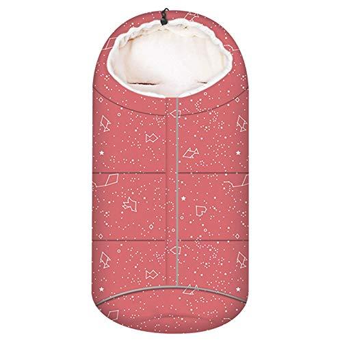 Rubyu-123 Saco de dormir para cochecito con cremallera, saco de dormir cálido para niña, manta de bebé para invierno, resistente al viento, cojín para silla, asiento de coche, cuna, universal