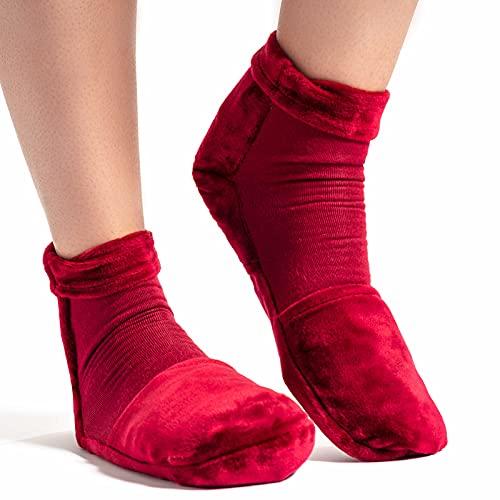 Medcosa - Calcetines con bolsa de gel frío   Terapia de frío y calor para enfriar los pies y calentar los dedos   Tratamiento con frío para la artritis, la fascitis plantar y la neuropatía