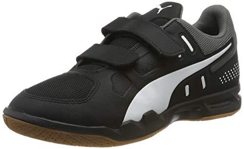 Puma Unisex Auriz V Jr Sneaker, Schwarz Black White-Castlerock-Gum, 38.5 EU