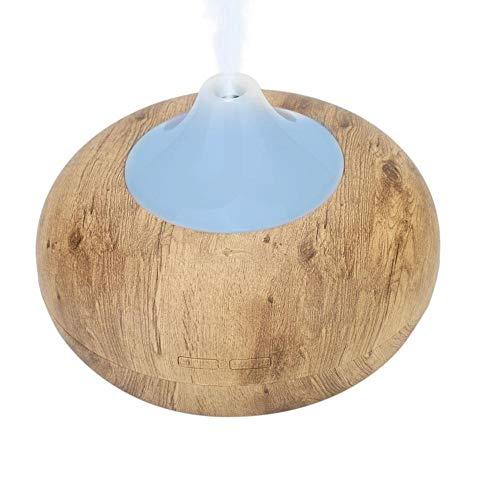 Difusor de aire, difusor de aromaterapia de carga USB portátil, mini mudo, humedece la piel, oficina, hogar para purificar el coche(Light wood grain)